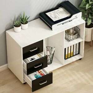 Large Modern Lateral Mobile Filing Cabinets Open Storage Shelves For Home Office
