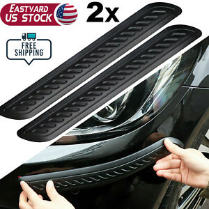 2x Bumper Protector Car Corner Anti Scratch Rubber Guard Strips Pickup Truck Suv