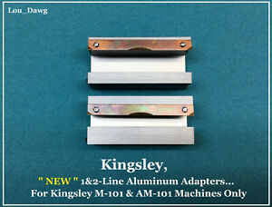 Kingsley Machine New 1 2 line Aluminum Adapters Hot Foil Stamping Machine