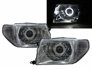 Pajero Tr4 98 15 Guide Led Halo Projector Headlight Chrome For Mitsubishi Lhd