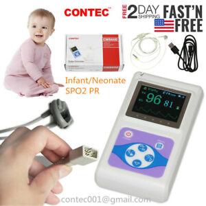 Usa Fedex 2 Days Pediatric Infant Pulse Oximeter Spo2 Heart Pulse Rate Monitor