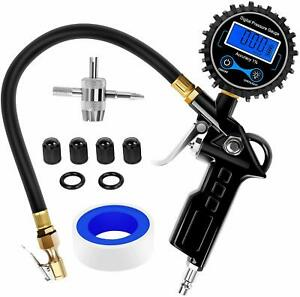 Nilight Digital Tire Inflator With Pressure Gauge 250 Psi Heavy Duty Air Chuck