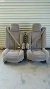 2003 06 Chevy Tahoe Front Bucket Seats Shale Interior 92d 92i Nice Used