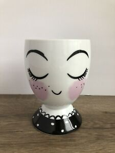 Target Threshold Ceramic Cup Pencil Holder Planner Girl Face Planter New