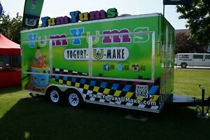 Frozen Yogurt Concession Trailer Brand Name Logo Rights Turn key Food Truck