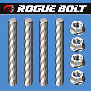 Carb Stud Kit 2 Spacer Stainless Steel Bolts Holley Edelbrock Carter Carburetor
