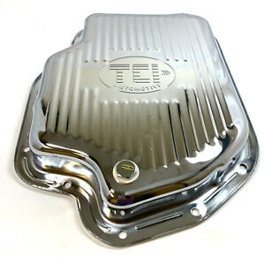 Gm Chevy Turbo 400 Chrome Automatic Transmission Pan With Drain Plug Th400 Tci