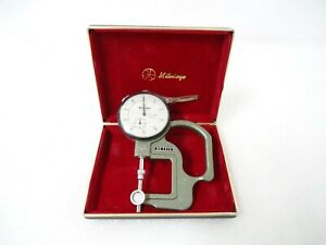 Mitutoyo Dial Thickness Gauge Caliper Gage 7312 2412 Indicator Metrology Nice