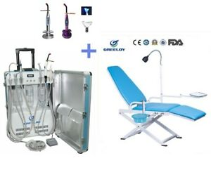 Portable Dental Delivery Unit W Air Compressor 4h Dental Chair Curing Light