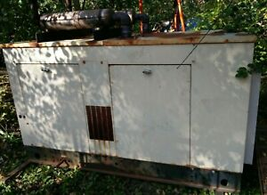 Generac 40 Kw 120 208 3 Ph Natural Gas Back Up Generator Genset 467 Hours