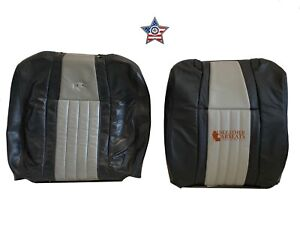 2003 Ford F150 Harley Davidson Driver Lean Back Seat Cover 2 Tone Black Gray