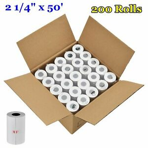 200 Thermal Paper Rolls 2 1 4 X 50 Credit Card Cash Register Pos Receipt Paper