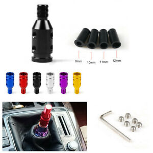 Universal Aluminum Shift Knob Adapter For Non Threaded Shifters M12x1 25 M10x1 5