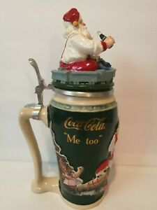 Coca-Cola Christmas Santa Me Too Stein Limited Edition Made In Germany By Gerz