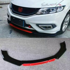 Gloss Black Front Bumper Lip Splitter For 2013 2015 9th Honda Civic Sedan Si