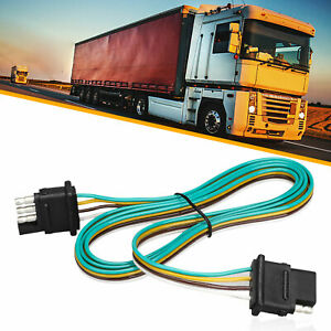 4 Pin Sae Plug Trailer Light Wiring Harness Extension Cable Flat Wire Connector