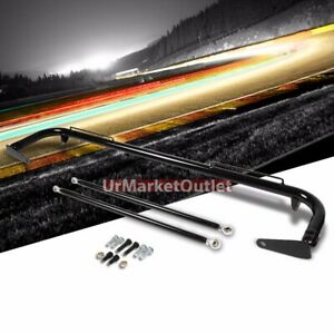 Black Mild Steel 49 Racing Safety Chassis Seat Belt Harness Bar across Tie Rod