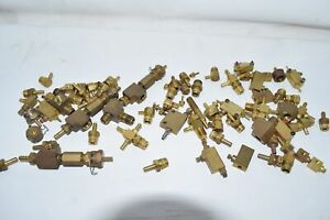 Mixed Lot Of 2lbs 9oz Clippard Brass Elbow Barb Fittings Valve Minimatics