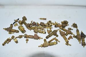 Mixed Lot Of 3lbs 3oz Clippard Brass Elbow Barb Fittings Valve Minimatics