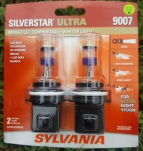 Sylvania Silverstar Ultra 9007 Dual Pack Halogen Bulbs Brand New Sealed