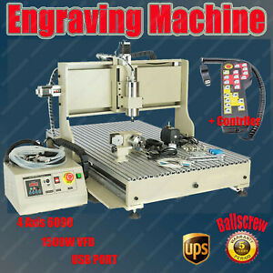 6090 Usb Cnc Router Mill Engraver Machine 4 Axis Metal Woodworking 3d 1500w Rc