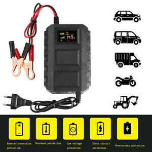 Car Battery Lead Acid Charger Automobile Motorcycle 12v 20a W Intelligent Lcd
