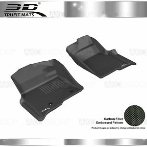Fit 2009 2013 Ford F150 All Weather Floor Mat Front Set Kagu Black