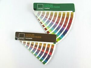 Pantone 4 color Process Guide Set Coated uncoated Cmyk Values