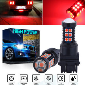 3030smd Pure Red Super Bright 3157 3057 4057 4157 Led Brake Stop Tail Light Bulb