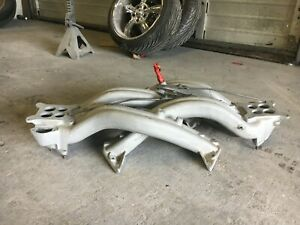 Chrysler 383 413 Cross Ram Intake Manifolds Aluminum W carb Linkage
