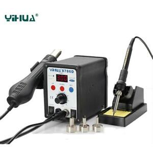 2in1 8786d Smd Soldering Station W Hot Air Gun Solder Iron Desoldering Tool Kit