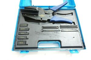 Amp Latch Connector Crimper Hand Tool Kit 91243 4 Complete Set In Case