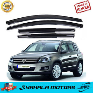 4 Piece Smoke Window Vent Visors Rain Guards For Volkswagen Tiguan 2008 2016