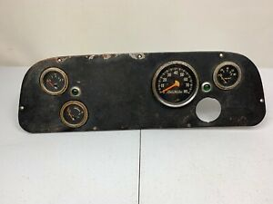 Vintage Stewart Warner Mechanical Dash Cluster Oil Water Fuel Speedometer