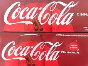 COCA COLA CLASSIC LIMITED EDITION CINNAMON FLAVORED 12 PACK