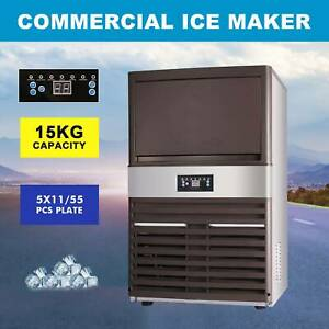 70kg Auto Commercial Ice Maker Cube Machine Stainless Steel Bar 160lbs 400w 110v