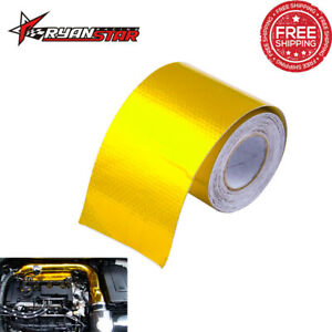 2 x16 Gold Reinforced Tape Heat Shield Adhesive Backed Resistant Wrap 5m