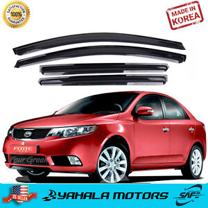Smoke Window Sun Vent Visor Rain Deflector Guards K086 For Kia 09 12 Forte Sedan