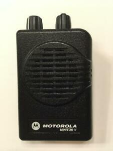 Motorola Minitor V 5 Low Band Pagers 33 37 Mhz 2 channel Stored Voice