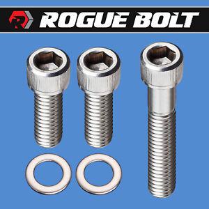 Sbc Bbc Thermostat Housing Bolts T Stat Stainless Kit Small Big Block Chevy Gm