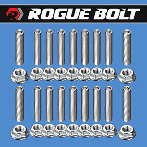 Sbc Aluminum Oil Pan Stud Kit Bolts Stainless Kit Small Block Chevy 283 327 350