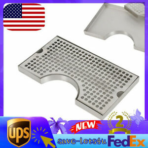 Tap Draft Beer Kegerator Tower Drip Tray Mount Polished Surface No Drainage