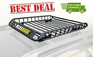 Maxxhaul 70115 Universal Steel Roof Rack Car Top Cargo Carrier Basket 46 X 36
