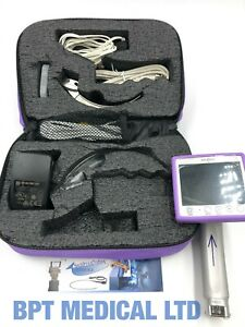 Intubrite Vls6600 Video Laryngoscope System In Carry Case Battery And More