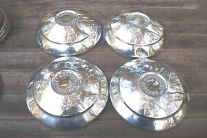 Oe Set Of 4 1960 61 Corvair Dog Dish Hubcaps Baby Moon Style