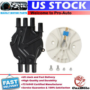 Ignition Distributor Cap And Rotor For Chevy Astro Van S 10 Blazer Jimmy 4 3l V6