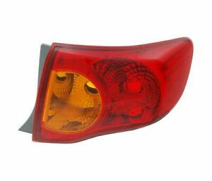 Toyota Corolla Saloon 2007 2010 Yellow Vt1134p Right Rear Light Tail