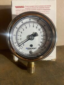Ashcroft 0 15 Psi Industrial Duralife Gauge 8937