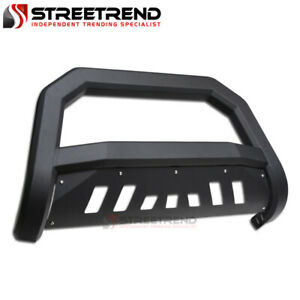 For 2014 2019 Toyota Highlander Matte Black Avt Edge Bull Bar Brush Bumper Guard