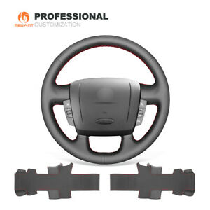 Black Leather Steering Wheel Cover For Peugeot Boxer Citroen Jumper Fiat Ducato